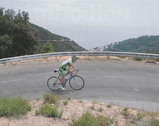 """It's fairly close to the coast and there are rolling and tough hills aplenty.""  Publication: Cycling Weekly  Feature title: Girona 