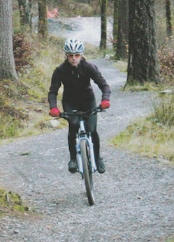 Penny Comins rides the Cyflym Coch trail at Coed-y-Brenin, the first trail centre to be developed in the United Kingdom.  Publication: Cycling Active  Feature title: Centre larks | PDF1 ,  PDF2 ,  PDF3 ,  PDF4