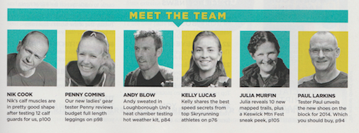 Our new ladies' gear tester, Penny reviews budget full length leagues on p98  Publication: Trail Running  Feature title: Meet the team | PDF