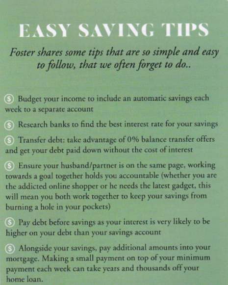 Publication: M2Woman  Feature title: Savvy Saving |  PDF1 ,  PDF2