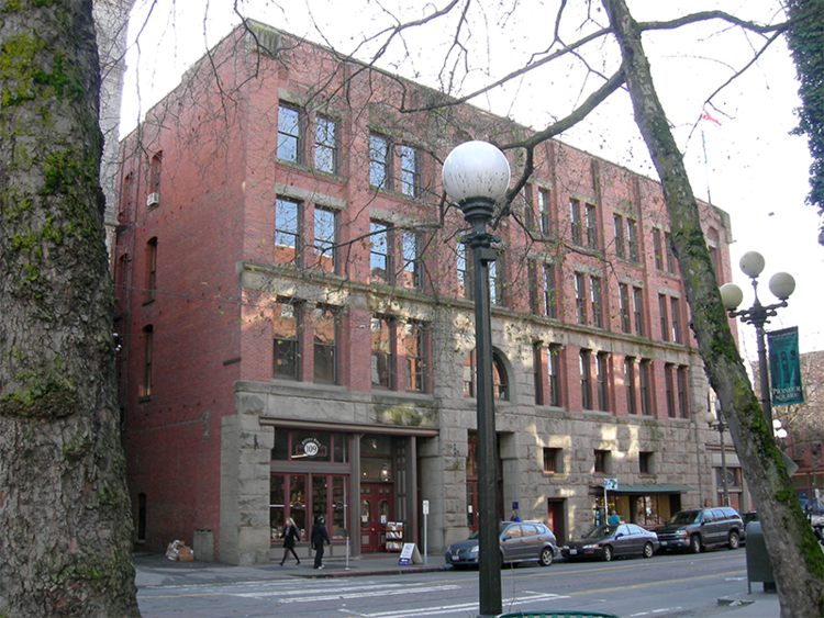 Our office is in the Globe Building in the Pioneer Square district in Seattle. We're located on the corner of South Main Street and 1st Avenue South, near Occidental Park.