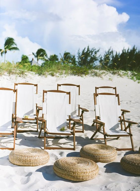 Tropical Destination Wedding Ceremony Chairs
