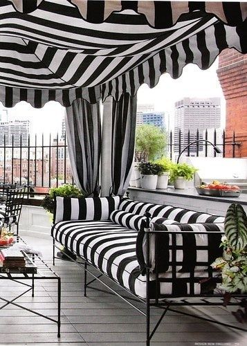 Chic Fairmont Wedding Style Black and White Stripes