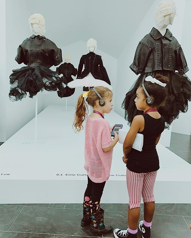 It's never to early to become a #gallerygroupie. Go see Commes des Garçons before it closes September 4!