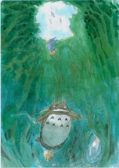 From  The Art of My Neighbor Totoro , by Hazao Miyazaki (2005)