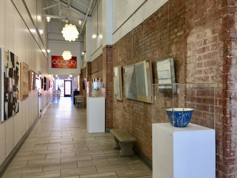 Installation view facing North, featuring Katie Henderson on the left and Christie Owen & Debra Ashley on the right