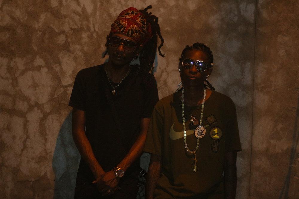 Le Femme Boue and Trinidad's local artist Rheon Elbourne