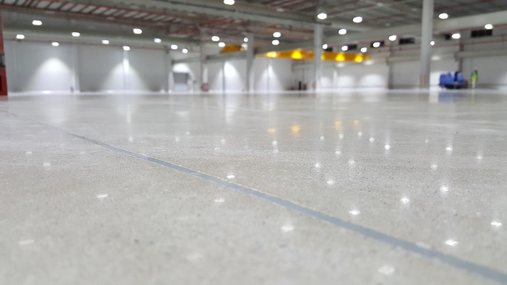 Industrial floor polished concrete