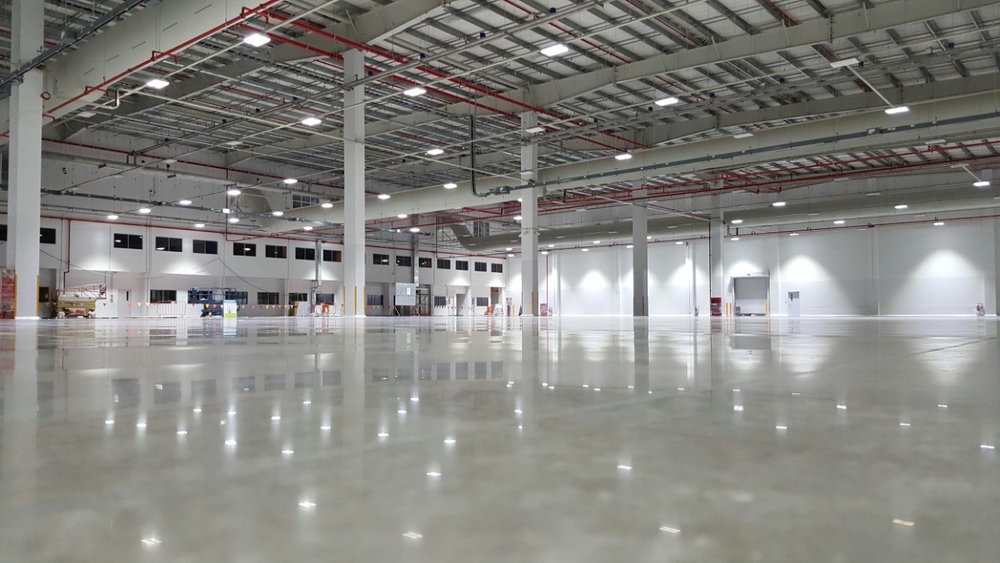 commercial floor polished concrete