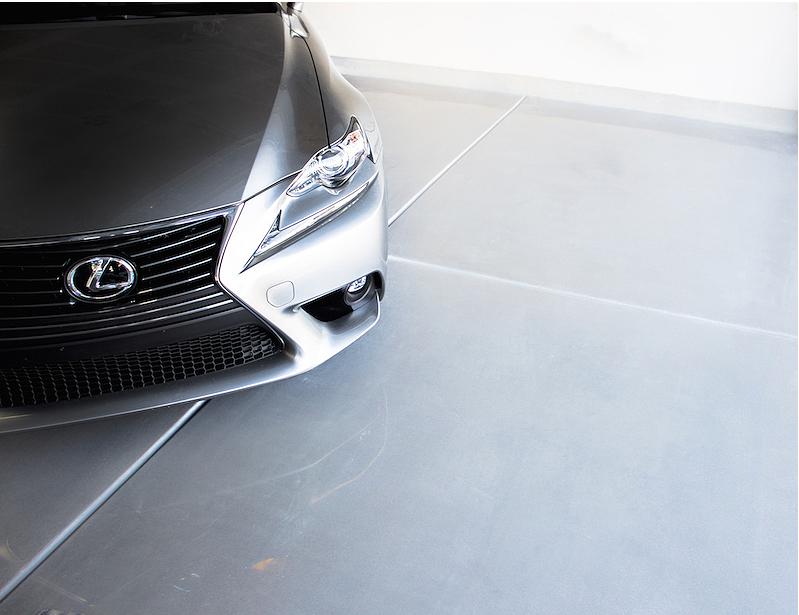 Garage concrete polishing