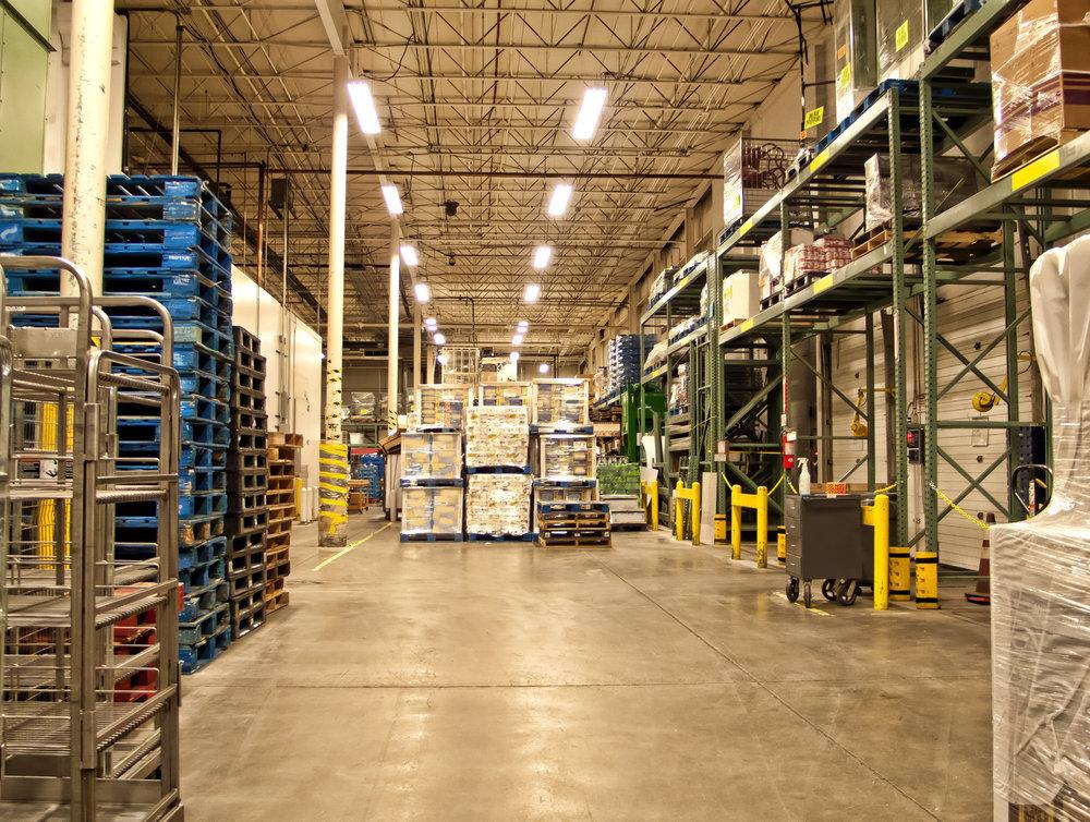 Industrial concrete floor