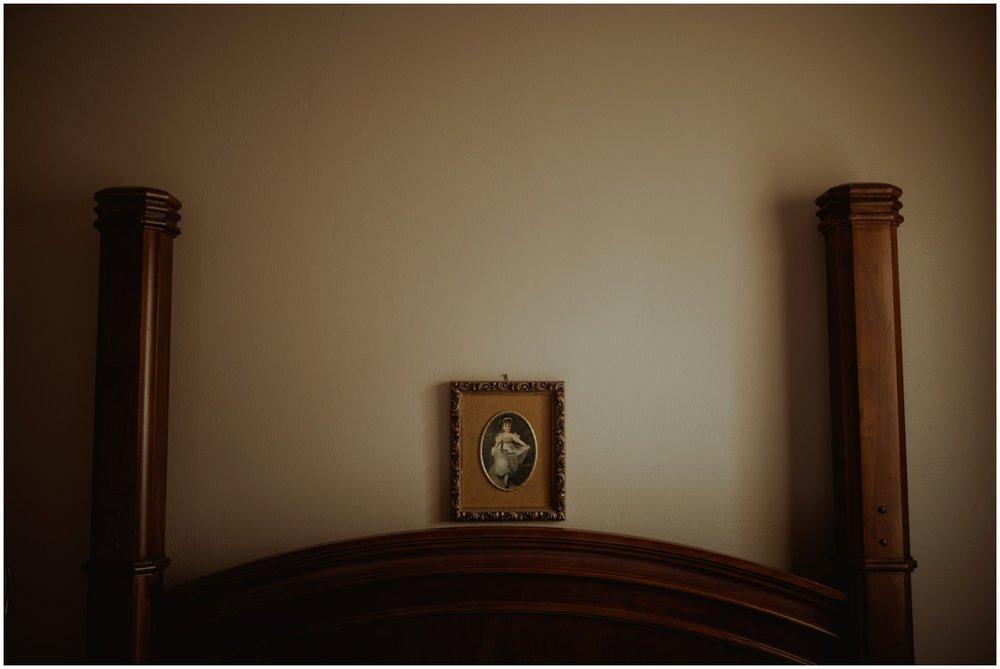 Milwaukee Boudoir Photographer | Bedroom of Victorian home.