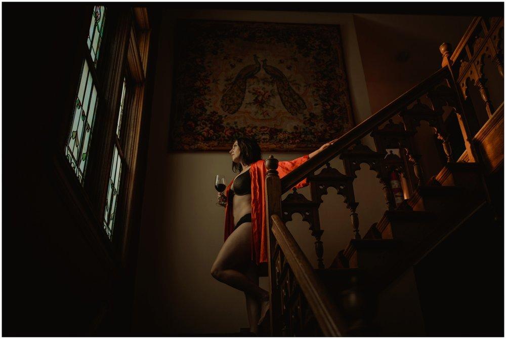 Milwaukee Boudoir Photographer | Red Robe.
