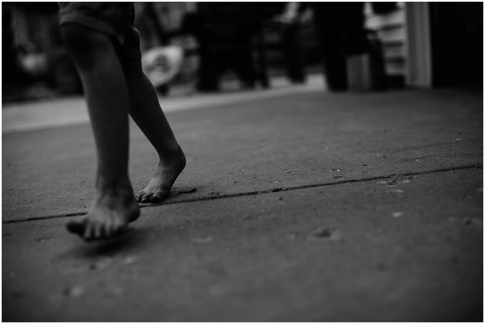 Milwaukee Lifestyle Photographer | Documentary photography of young boy's childhood | Dirty feet.
