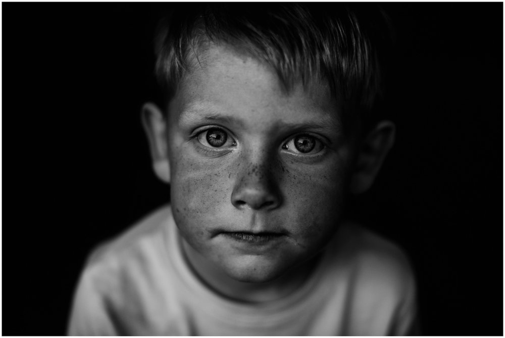 Milwaukee Lifestyle Photographer | Documentary photography of young boy's childhood | Childhood freckles.