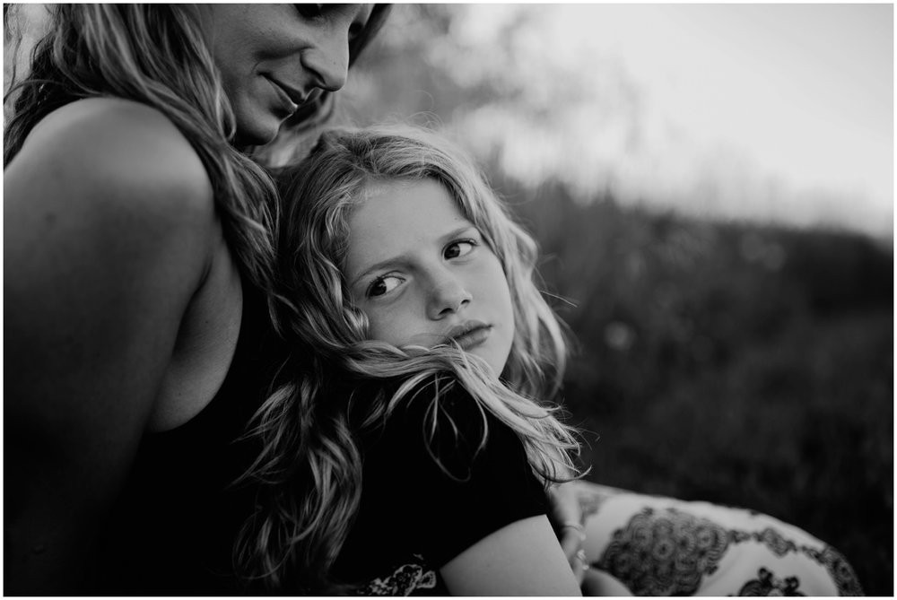Milwaukee, Wisconsin Family Photographer | Mama and Me Session | Daughter sitting on mother's lap.