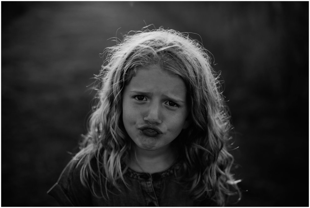 Milwaukee, Wisconsin Family Photographer | Mama and Me Session | Young girl making goofy face.