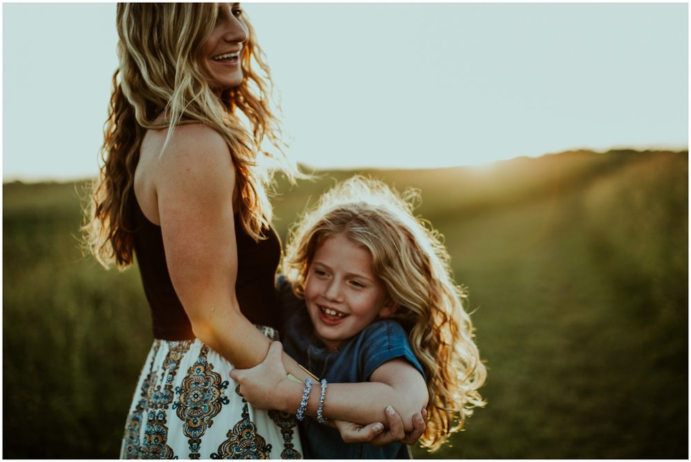 Milwaukee, Wisconsin Family Photographer | Mama and Me Session | Dancing in the sunlight.