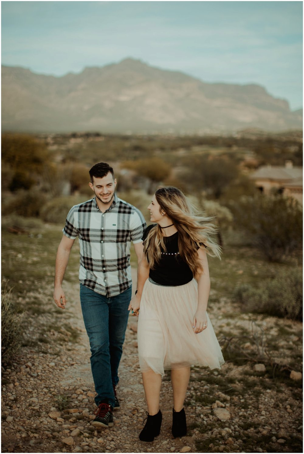 Superstition Mountain Engagement Photos // Arizona Desert Engagement