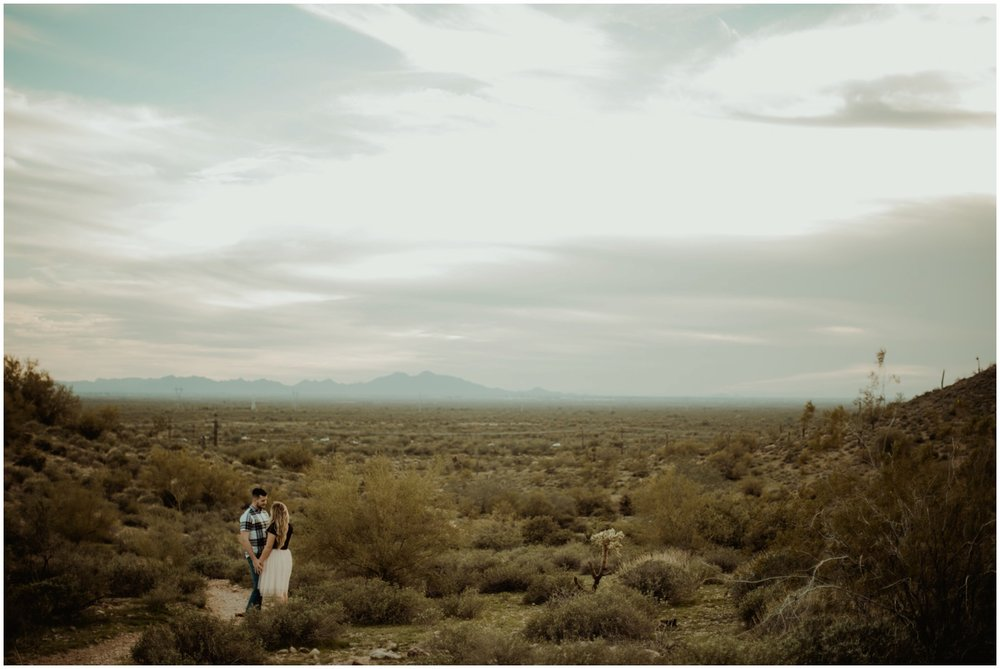 Superstition Mountain Engagement Photos // Arizona Desert Engagement // Couple in Arizona Mountains.