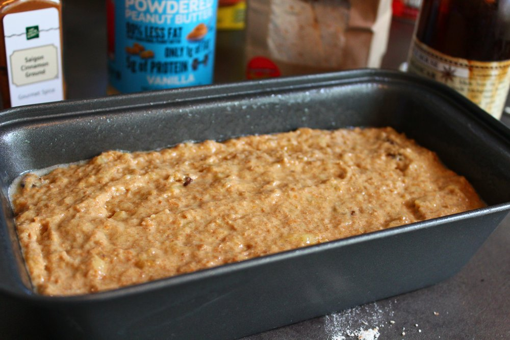 Banana Bread Mixture Loaf for Sugar-Free Banana Bread