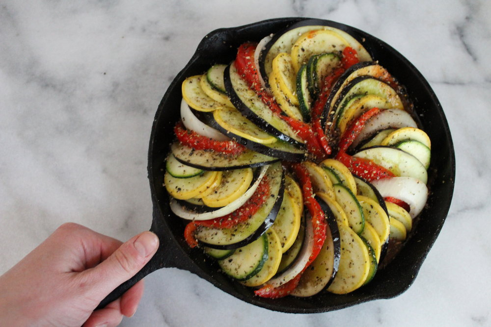 Ratatouille for Two-pre-bake with hand.JPG