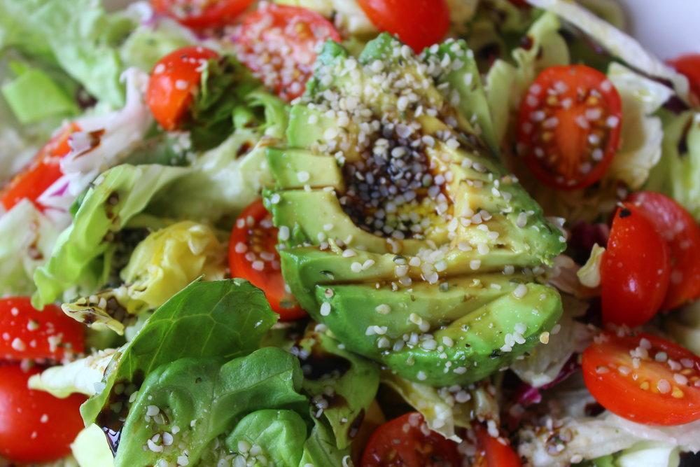 Hemp, Avocado, and Tomato Salad (For 1!) 2