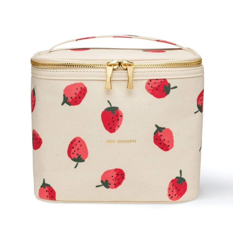 """This Kate Spade """"Just Desserts"""" lunch bag might be the cutest lunch bag I've ever seen. Carry your (healthy!) snacks and small lunch in this, and you'll be the envy of the office :)"""