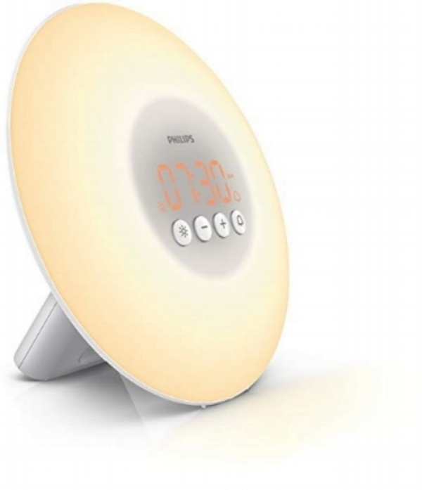 This alarm clock has been an absolute game-changer for Matthew and me for getting up early- it simulates the rising sun over the course of 30 minutes, which helps your body wake up gently and comfortably. It has helped me not feel groggy in the morning! Try it if you struggle with early wake-ups or want a more peaceful and natural way to wake up.
