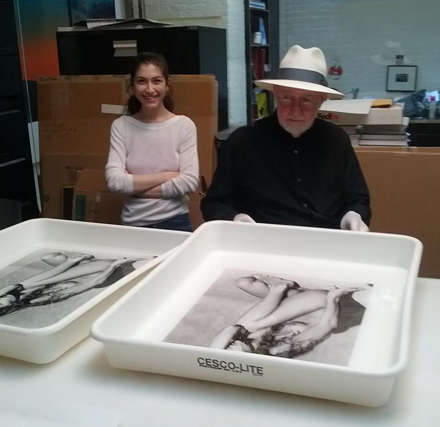 2011. silver gelatin print-making with Albert Watson.