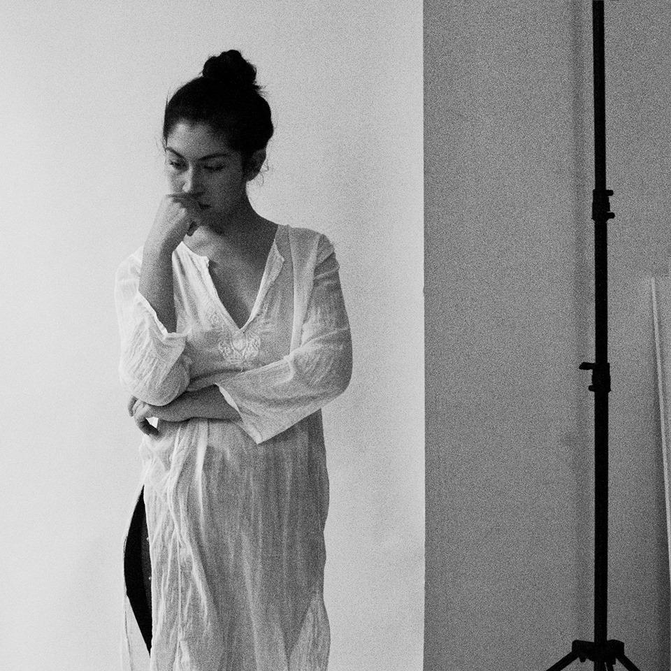 2016. Julia in the studio.