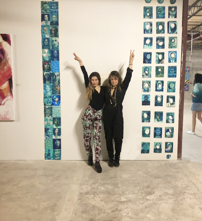 """2018. Julia and Dr. Megan Poe at """"Art and activisM: a divine feminine perspective"""" exhibition. wynwood district: Miami Art Basel."""