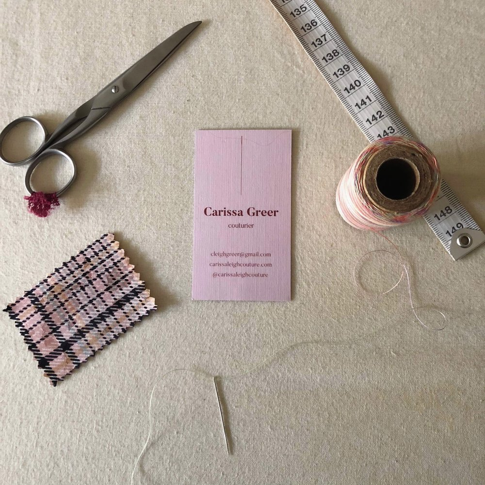 carissa leigh couture | biz cards with a linen finish