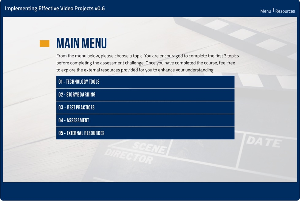 Implementing Effective Video Projects