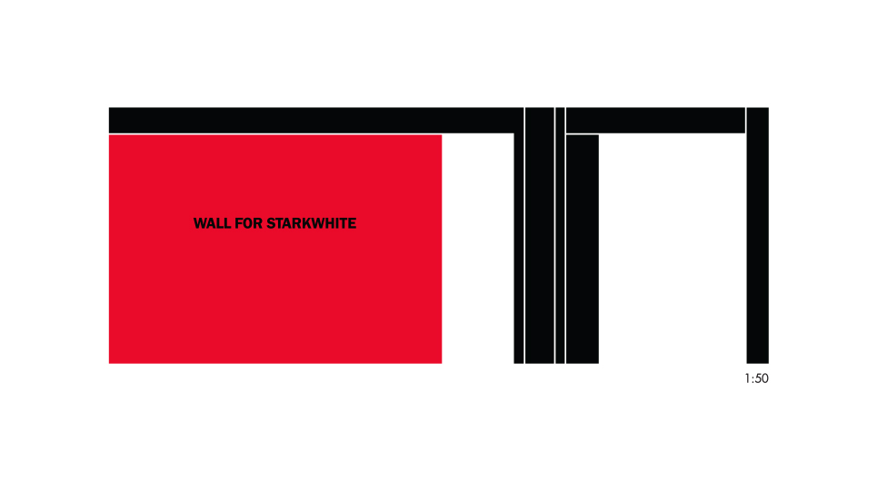 Billy Apple, wall for Starkwhite 2001; gallery abstract 1:50, 2018