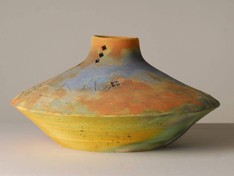 Steve FULLMER (American, b.1946),  Tabasco Canyon , 1985, glazed pit-fired stoneware. Collection of The Suter Te Aratoi o Whakatū: purchased in 1985. Acc. 757.