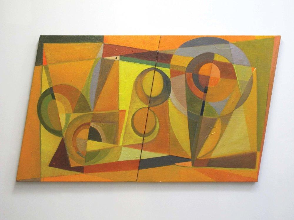 Imogen Taylor,  Refusal To Yield  (2018) Acrylic on hessian, 1100 x 2050mm