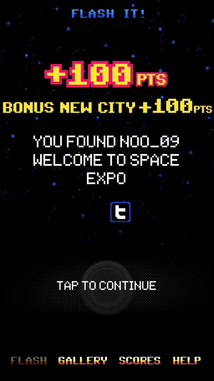 Flash Invaders 100 Pts New City Bonus