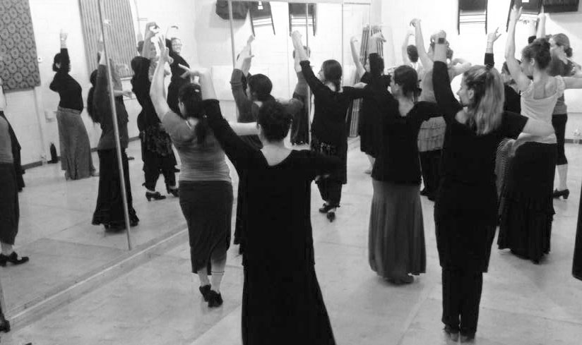 Flamenco class at the Austin Flamenco Academy