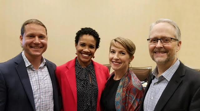 With fellow panelists at SRIC 2017. L-R Shane Yonston, Lazetta Rainey Braxton, me, Bruce Herbert