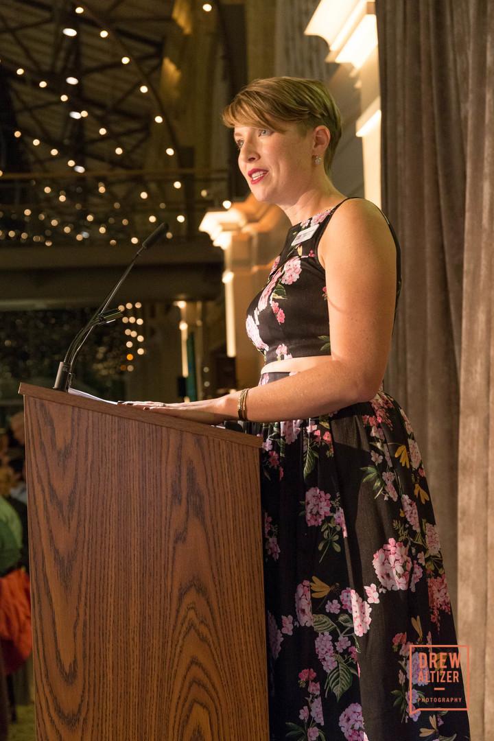 Speaking at the CUESA fundraiser