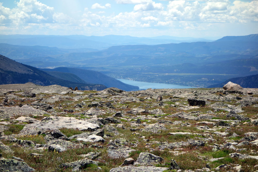 A photo of the view from Betsy's hike up Flat Top Mountain, one of her favorite trails.