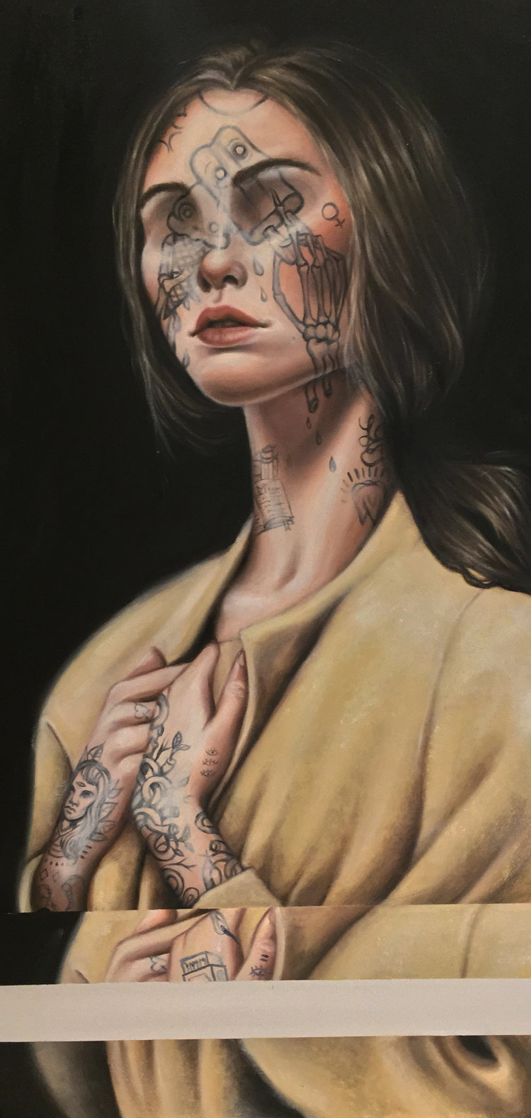 """""""Sweet Tooth"""", Oil on Canvas, 24""""x42"""", 2017 (available)"""