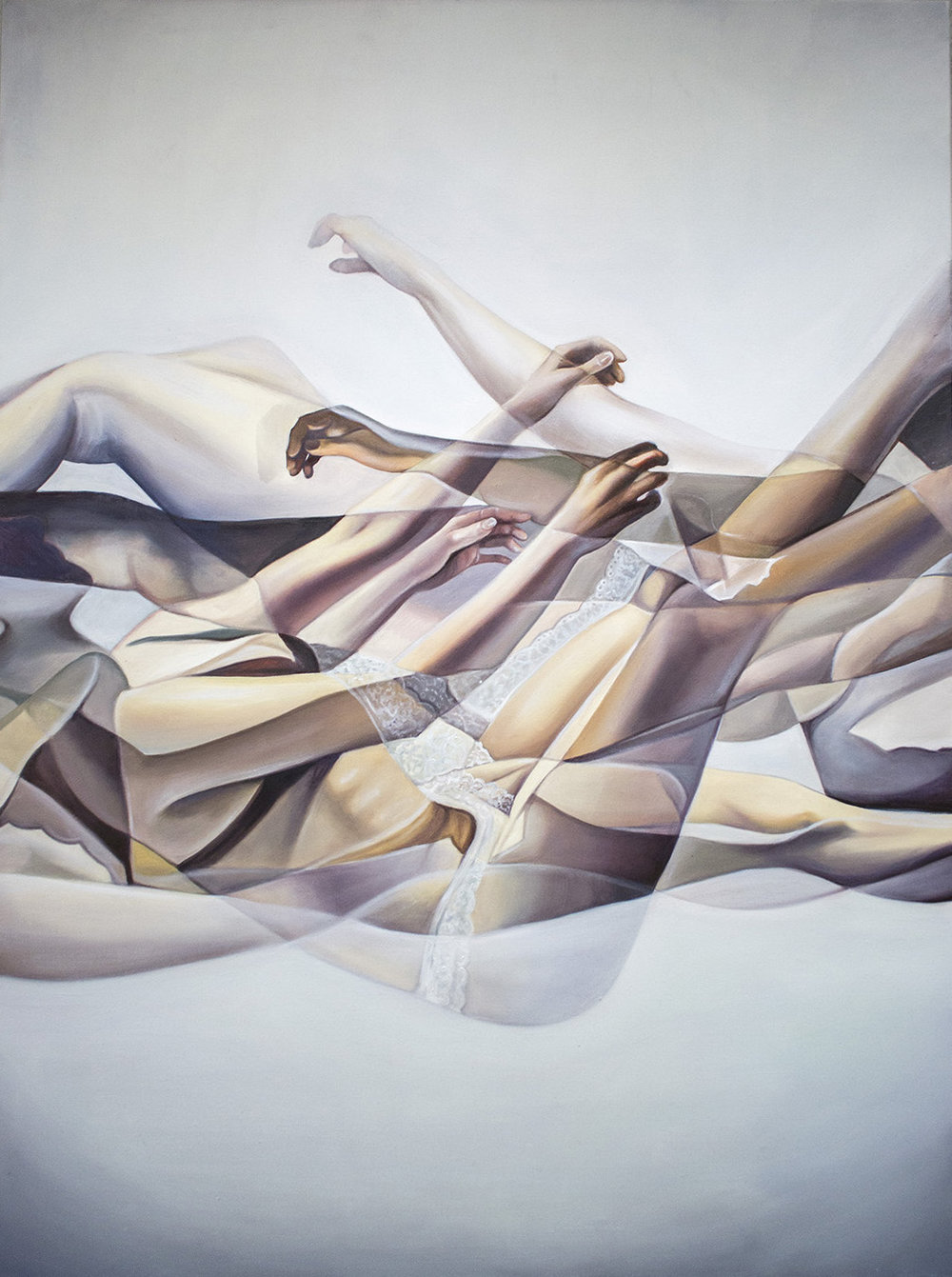 """Helix"", Oil on Canvas, 2019, 40""x30"" (Available)"