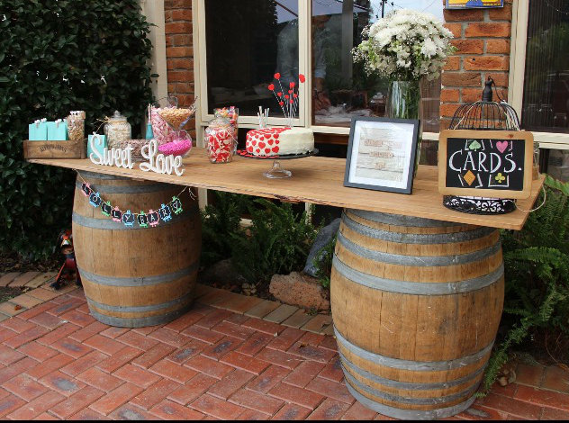 Rustic Wine Barrel Bar $165
