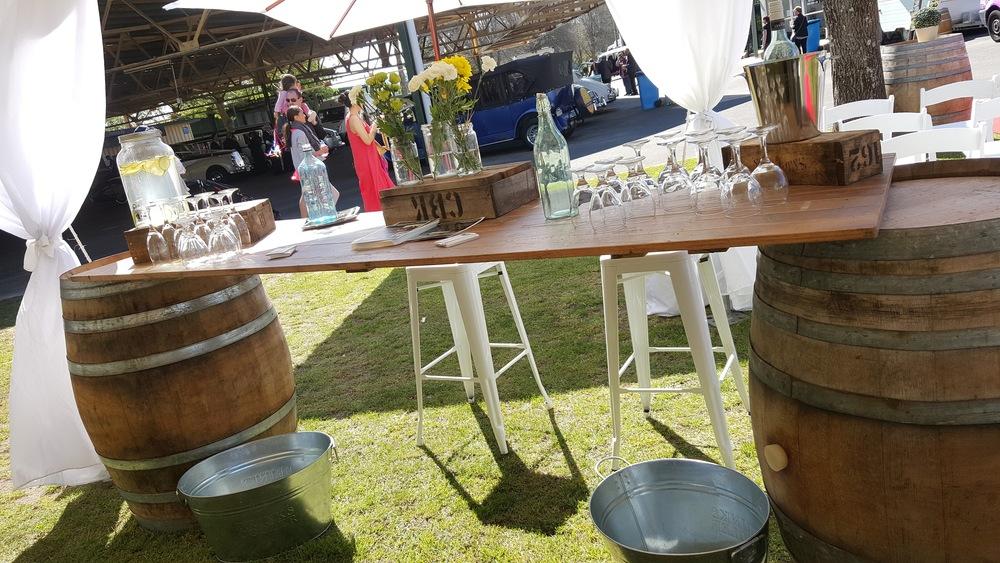 Rustic Wine Barrel Bar $120.00