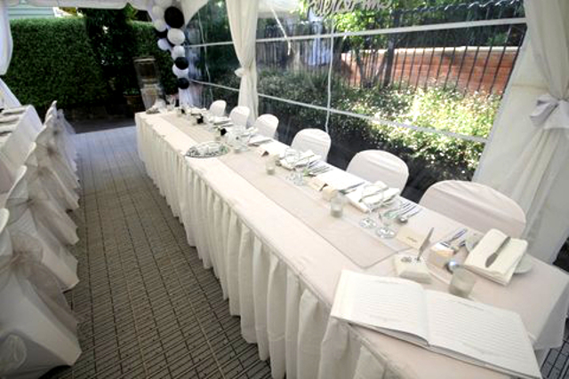 White Garden Chairs with Covers