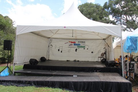 6 x 6m Spring Top Marquee over Stage