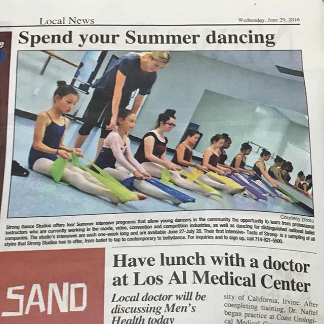 We made it in another local paper. @kay.monty is doing amazing things with our ballet program. Check our ballerinas working with therabands to strengthen their muscles. #strongdancestudios #therabands #strengthening #prepointe #balletmistress #localpaper