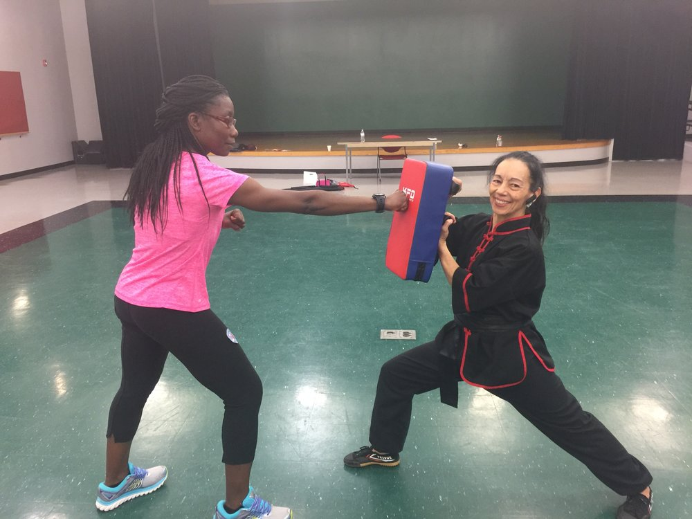 - Nov. 4, 2017. Power Health Tour at Boys & Girls Club of Dorchester. Go Florence!! She can really throw those punches so much that I need the red and blue striking pad to deflect!